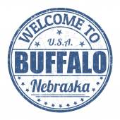 Welcome to Buffalo stamp — Stock Vector