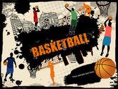 Fundo de basquete urbano — Vetorial Stock