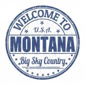 Welcome to Montana stamp — Stock Vector