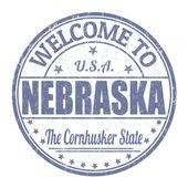 Welcome to Nebraska stamp — Stock Vector
