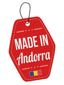 Made in Andorra red leather label or price tag — Stock Vector