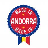 Made in Andorra, product label — Stock Vector