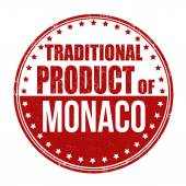 Traditional product of Monaco stamp — Vettoriale Stock