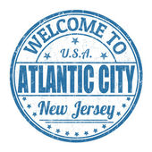 Welcome to Atlantic City stamp — Stock Vector