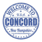 Welcome to Concord stamp — Stock Vector