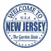 Welcome to New Jersey stamp — Stock Vector