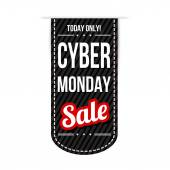 Cyber Monday banner design — Stock Vector