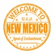 Welcome to New Mexico stamp — Stock Vector #55533185