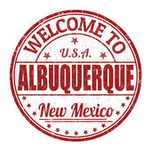 Welcome to Albuquerque stamp — Stock Vector