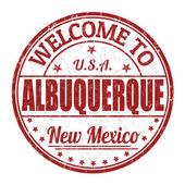 Welcome to Albuquerque stamp — Stock Vector