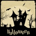 poster vintage di halloween — Vettoriale Stock  #55633323