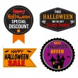 Halloween sale label, sticker or stamps — Stock Vector #55731715
