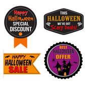 Halloween sale label, sticker or stamps — Stok Vektör
