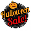 Halloween sale stamp — Stock Vector #55756687