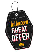 Halloween great offer label or price tag — Stock Vector
