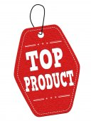 Top product  label or price tag — Vector de stock