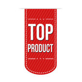 Top product banner design — Stock Vector