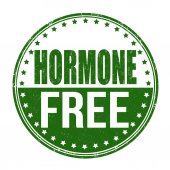 Hormone free stamp — Stock Vector
