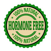 Hormone free label or stamp — Stock Vector