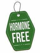 Hormone free label or price tag — Stock Vector