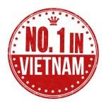 Number one in Vietnam stamp — Stock Vector #56190203