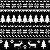 Bezešvé vánoční vzor — Stock vektor