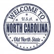 Welcome to North Carolina stamp — Stock vektor #56288767