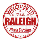 Welcome to Raleigh stamp — Stock Vector