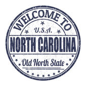 Welcome to North Carolina stamp — Stock Vector