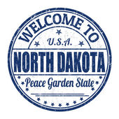 Welcome to North Dakota stamp — Stock Vector