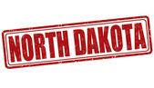 North Dakota stamp — Stock Vector