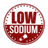 Low sodium stamp — Stockvektor