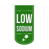 Low sodium banner — Stockvektor