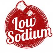 Low sodium stamp — Stock vektor