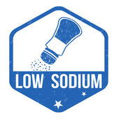Low sodium stamp — Wektor stockowy