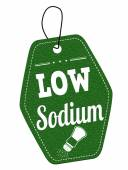 Low sodium label or price tag — Wektor stockowy