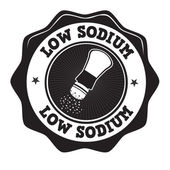 Low sodium label or stamp — Wektor stockowy