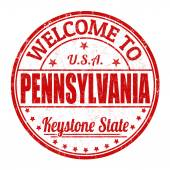Welcome to Pennsylvania stamp — Stock Vector