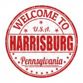 Welcome to Harrisburg stamp — Vector de stock