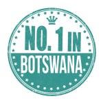 Number one in Botswana stamp — Stock Vector #56795643