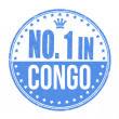 Number one in Congo stamp — Stock Vector #56796051