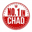 Number one in Chad stamp — Stock Vector #56796879