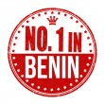 Number one in Benin stamp — Stock Vector #56797187