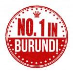Number one in Burundi stamp — Stock Vector #56797199