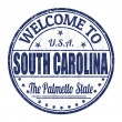 Welcome to South Carolina stamp — Stock Vector #56797533