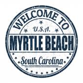 Welcome to Myrtle Beach stamp — Stock Vector