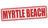 Myrtle Beach stamp — Vettoriale Stock