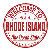 Welcome to Rhode Island stamp — Vettoriale Stock