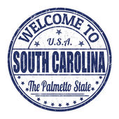 Welcome to South Carolina stamp — Vettoriale Stock