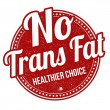 Постер, плакат: No trans fat stamp